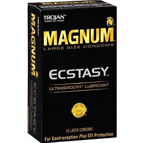 Trojan Magnum Ecstasy Ultrasmooth Lubricant,10-count