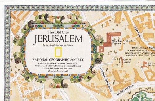The Old City Jerusalem / Jerusalem (National Geographic Maps, April 1996) (Jerusalem Old City Map)