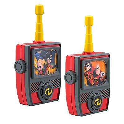 Incredibles 2 Walkie Talkies for Kids Static Free Extended Range Kid Friendly Easy to Use 2 Way Walkie Talkies