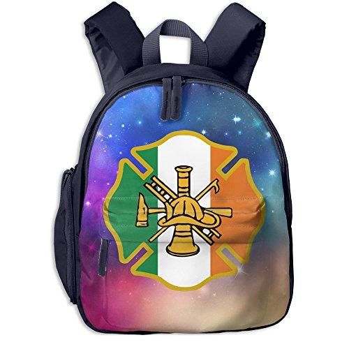 Cartel de bombero irlandés Kiss Me Kid ligero lona mochilas de viaje escuela libro bolsa, Marino, Una talla