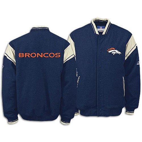 Broncos Reebok Men's NFL Team Varsity Jacket ( sz. XXL, Navy : Broncos )