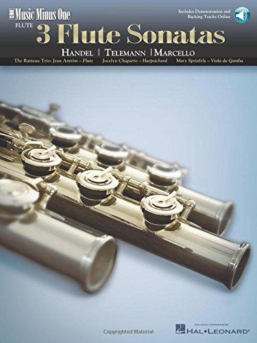 Read Online 3 Flute Sonatas - Handel, Telemann, Marcello: Music Minus One Flute (Music Minus One (Numbered)) pdf epub