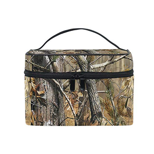 Toiletry Bag Multifunction Cosmetic Bag Portable Toiletry Case Waterproof Travel Organizer Bag for Women Girls Woodland Camouflage -