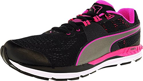 Puma Men's Speed 600 Ignite Black/Pink Glow/Aged Silver Ankle-High Running Shoe - 9.5M