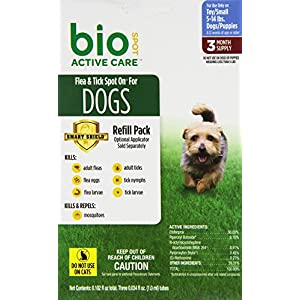 Bio Spot Active Care Flea & Tick Spot On for Small Dogs (5-14 lbs.)  3 Month Refill 51