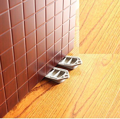 Gray Premium Rubber Door Stops, NISSCO 8 Pack Door Stopper Door Stop Works on All Floor Surfaces