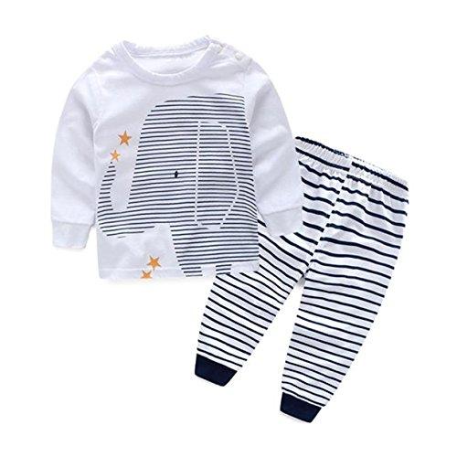Baby Boy Kids Summer T-Shirt Blouse Tops + Pants 2pcs Outfits - 2