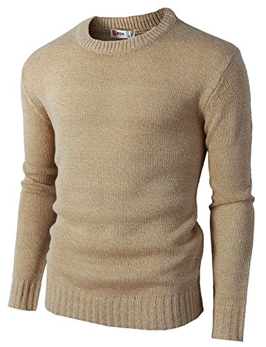 H2H-Mens-Casual-Slim-Fit-Basic-Designed-Knit-Pullover-Sweater-of-Various-Colors