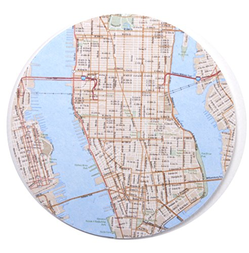 D.I.D. 10 Piece New York City Map Coaster Set