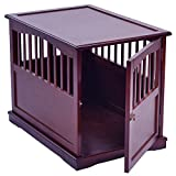 HOT! 24'' Wood Pet Crate End Table Cat Dog Kennel Cage w/Lockable Door Furniture