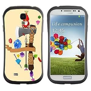 Hybrid Anti-Shock Bumper Case for Samsung Galaxy S4 / Cute Bird