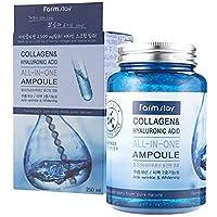 FARMSTAY Collagen & Hyaluronic Acid All In One Ampoule 250ml, Anti-Wrinkle, Whitening, All Skin Types [ Made in Korea ]