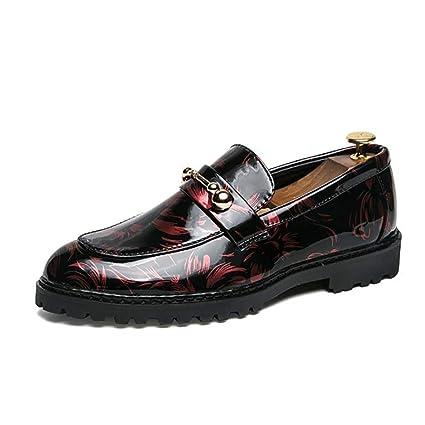 FuweiEncore Zapatos para Hombre/Charol / Mocasines de otoño/Zapatos Formales/Negocios /