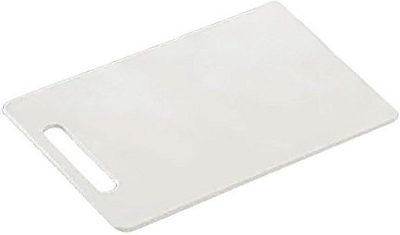 de Pl/ástico 29 x 19.5 x 0.5 cm Kesper 30470 Tabla de Cocina Rectangular para Cortar color Blanco