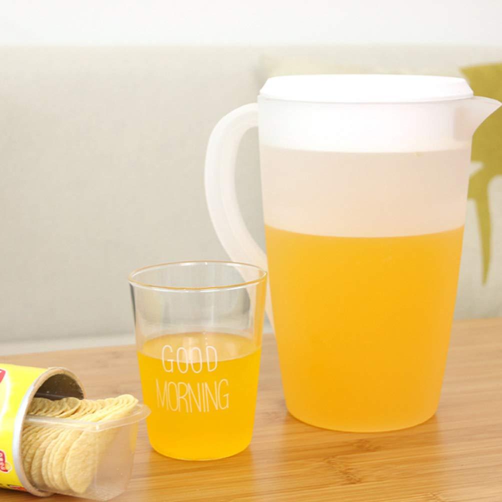 UPKOCH jarra de pl/ástico grande con tapa resistente a altas temperaturas mezcla de bebidas jarra de agua jarra de jugo hielo tetera l