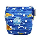 Hi Sprout Unisex Snap Reusable Baby Absorbent Swim Diapers Adjustable One Size (Blue Ocean)