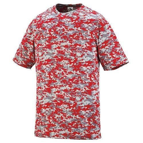 Digi Red Camo - Augusta Sportswear Youth Digi Camo Wicking T-Shirt L Red Digi