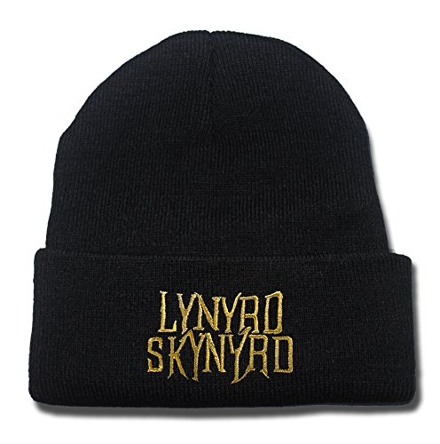 Lynyrd Skynyrd Rock Band Logo Beanie Fashion Unisex Embroidery Beanies Skullies Knitted Hats Skull Caps