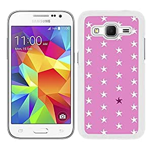Funda carcasa para Samsung Galaxy Core Prime diseño ilustración estampado estrellas de mar blancas borde blanco