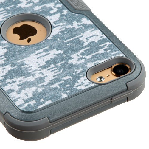 Apple iPod Touch 5 5th Gen / 6 6th Gen Case, Kaleidio [Natural TUFF] Rugged Dual Layer Hybrid Cover [Includes a Overbrawn Prying Tool & Stylux Stylus] [Universal Camouflage] (Ipod 5 Cases Made By Mybat)