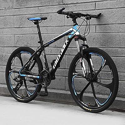 Ruedas de 6 radios Bicicletas de montaña Hidráulico Doble freno de disco Bicicleta de montaña Estudiantes masculinos y femeninos Bicicleta de carretera Rueda de 24 pulgadas MTB,Black & blue,21 Speed: Amazon.es: Hogar