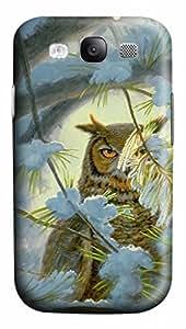 Cool Art Watchful Eye-owl Hard Plastic Back 3D Case Cover for Samsung Galaxy S3 I9300 (526 art) _626030 WANGJING JINDA