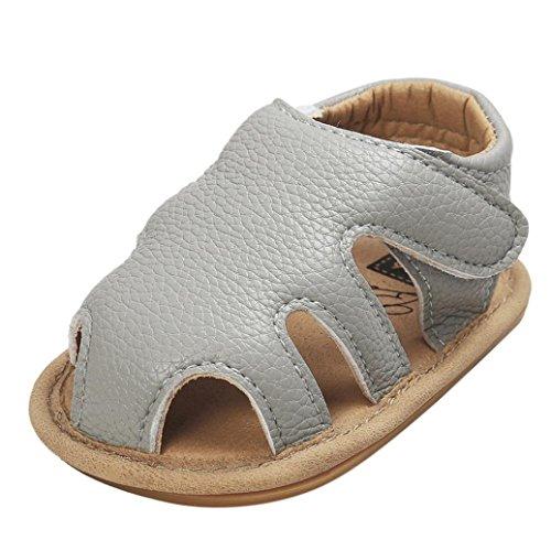 Hunpta Baby Boys Sandalen Schuh Casual Schuhe Sneaker Anti-Rutsch Soft Sole Kleinkind Gray