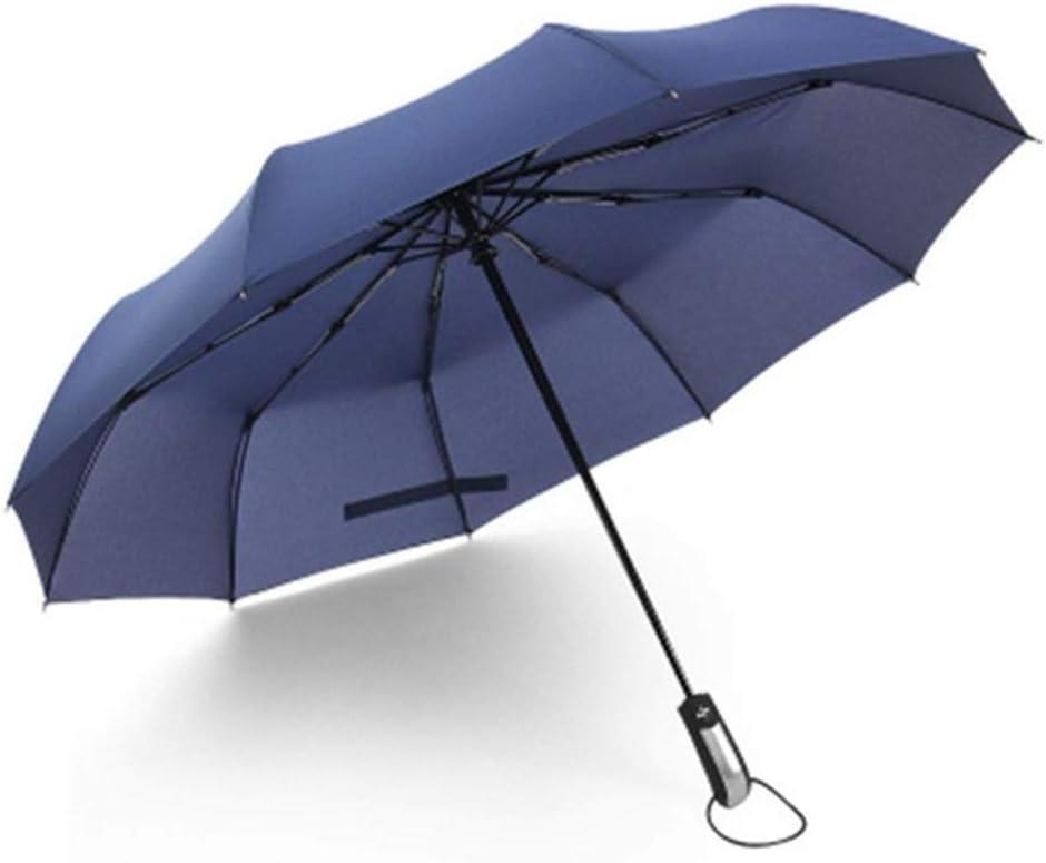 Color : Blue XIANGNAIZUI Wind Resistant Folding Automatic Umbrella Men Luxury Big Windproof Umbrella Rain Women Male Umbrella