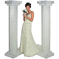 6' Marble Look Fluted Columns Pillars 2pc Set Wedding Ceremony Decoration by Fun Express