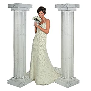 6 Marble Look Fluted Columns Pillars 2pc Set Wedding Ceremony Decoration By Fun Express