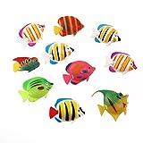 ROSENICE realistic artificial floating fish floating fish aquarium decorative plastic 10 pieces