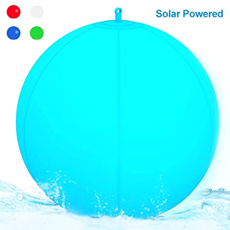 Luz LED para piscina,Inflable,Resistente al agua, IP68 Globo Solar,Lámpara
