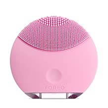 FOREO LUNA mini Silicone Face Brush with Facial Cleansing for All Skin Types, Petal Pink