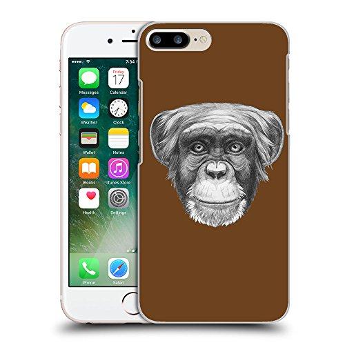GoGoMobile Coque de Protection TPU Silicone Case pour // Q05170633 Dessin singe Sépia // Apple iPhone 7 PLUS
