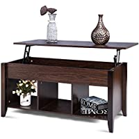 Tangkula Coffee Table Home Lift Top with Under Storage Shelf Living Room Furniture Tea Table