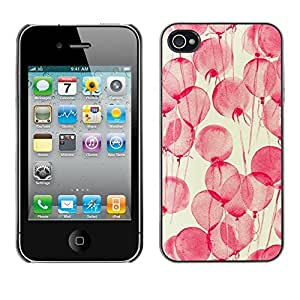 Soft Silicone Rubber Case Hard Cover Protective Accessory Compatible with Apple iPhone? 4 & 4S - flowers pink watercolor yellow