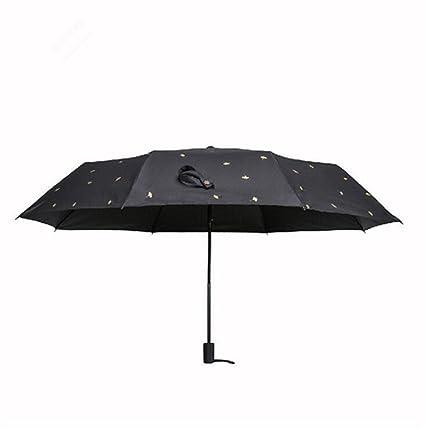 Sucastle Tres veces, automático, paraguas, paraguas de negocios, paraguas de sol,