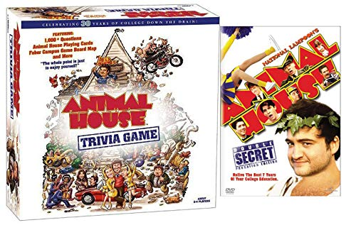Caddyshack Trivia - Hilarious Movie and Trivia Game Animal House DVD (Double Secret Probation Full Screen Edition) & Celebrating 30 Years of College Down the Train Trivia Game for Adults Bundle