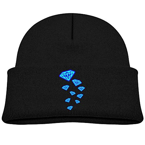 cqelng oii Knit Hats Beanie Caps Skull Caps Trendy Diamonds Blue Boys Soft Baby ()