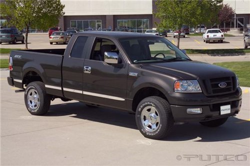 Super Cab 6' Box - Putco 96660 Side Molding FORD F150 SUPER CAB 6' BOX (W/O FLARES) - BILLET ALUMINUM