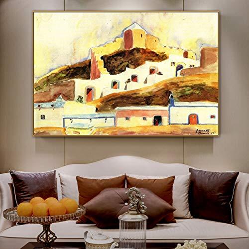 PLjVU Maestros Pintores Famosos Que pintan Cuadros en Impresiones de Lienzo para decoracion de Habitaciones-Sin marco30x45cm