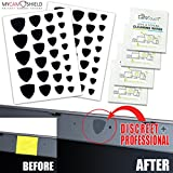 MyCamShield | 52 All-Vinyl Webcam/Camera Covers (Black) | Laptops, Desktops, Smartphones, Tablets, & Smart TVs | 52 Shields + 4 Lens/Screen Cleaning Wipes