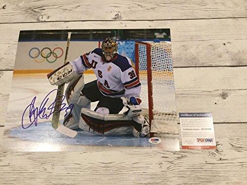 Autographed Ryan Miller Photograph - Team USA U.S.A 11x14 COA a - PSA/DNA Certified - Autographed NHL Photos ()