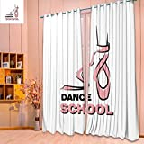 SeptSonne Design Print Grommet top Thermal Insulated dance school Linen Room Darkening Curtains(W52 x L63 Pair)