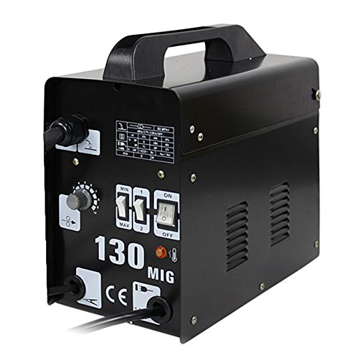 HomGarden MIG 130 Welding Machine Gas-Less Welder Flux Core Wire Automatic Feed Unit DIY Home Welder w/Free Mask 110V, Commercial Grade