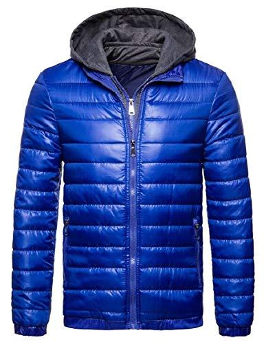 Cappotto Giacca Di Blu Maschile Sicurezza Inverno Casual Cappotto Parka Cappuccio Con Sottile 0qPdwzq