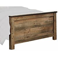 Signature Design by Ashley B446-84 Trinell Rustic Footboard Panel, Full