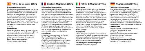 Citrato de Magnesio 200mg - 120 comprimidos - 2 meses de suministro - Simply Supplements: Amazon.es: Salud y cuidado personal