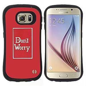 """Pulsar iFace Series Tpu silicona Carcasa Funda Case para Samsung Galaxy S6 , Preocupación minimalista rojo impresiones de texto"""""""