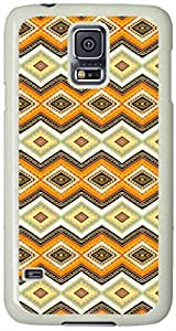 Gorgeous Byzantine Ornament Samsung Galaxy S5 Case with White Skin